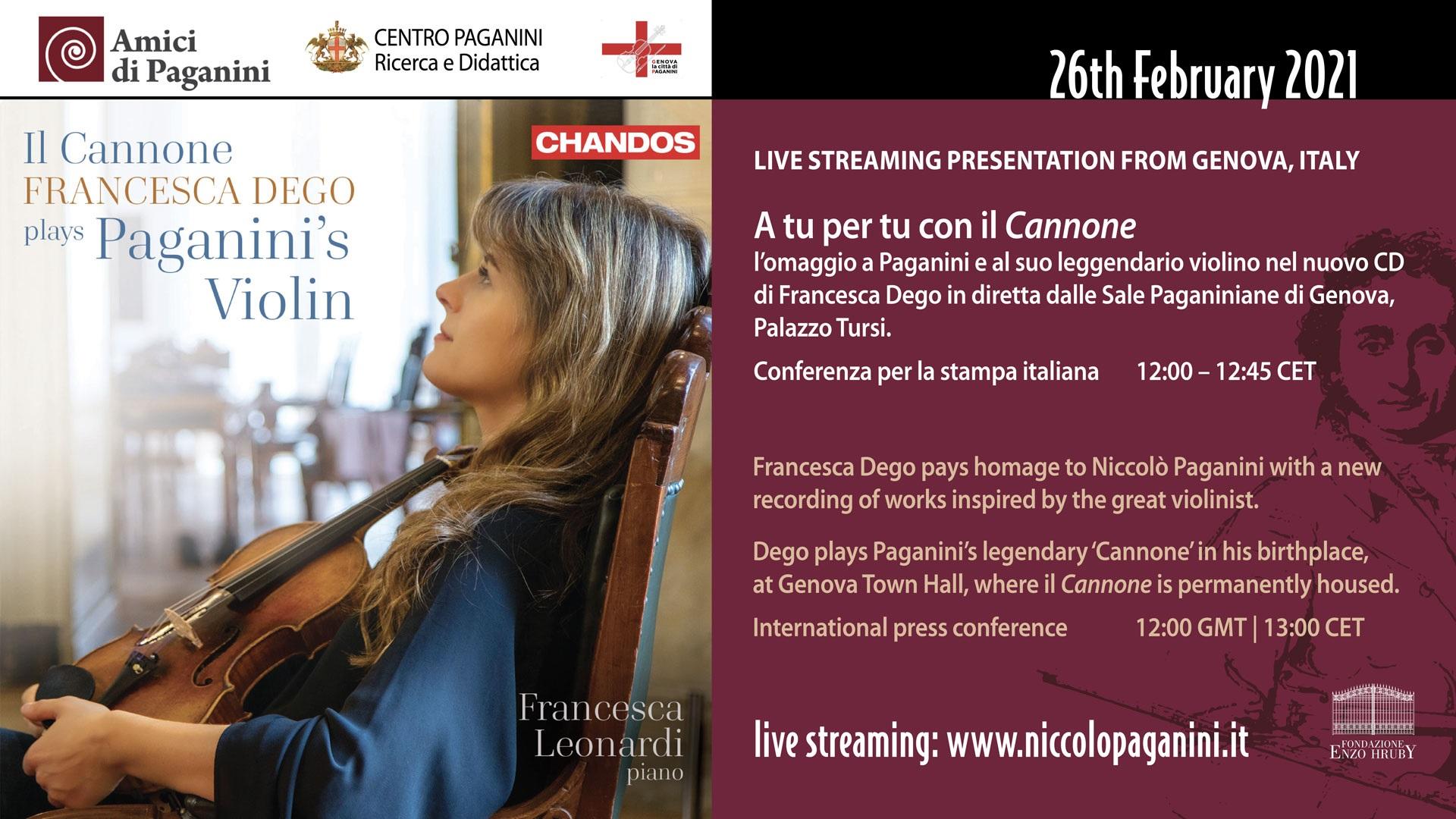 Invito 26 febbraio 2021 - Francesca Dego e il Cannone
