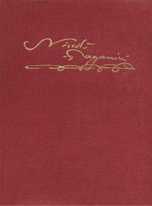 Copertina del Catalogo Tematico di Niccolò Paganini